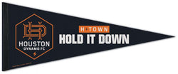 "Houston Dynamo FC ""Hold It Down"" Official MLS Soccer Premium Felt Collector's Pennant - Wincraft Inc."