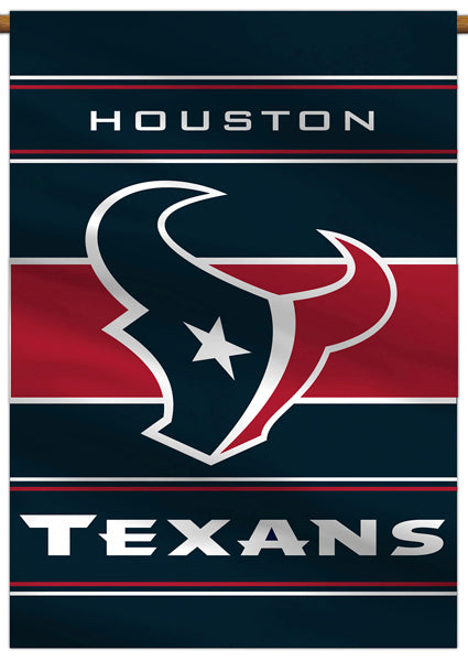 Houston Texans Official NFL Football Team Premium 28x40 Banner Flag - BSI Products