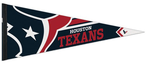 Houston Texans Official NFL Football Logo-Style Premium Felt Pennant - Wincraft Inc.