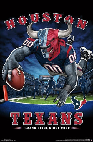 "Houston Texans ""Texans Pride Since 2002"" NFL Theme Art Poster - Liquid Blue/Trends Int'l."