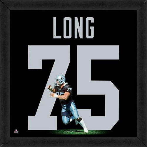 "Howie Long ""Number 75"" Oakland Raiders NFL FRAMED 20x20 UNIFRAME PRINT - Photofile"