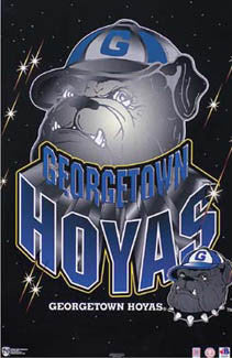 Georgetown Hoyas Official NCAA Team Logo Poster - Norman James Corp.