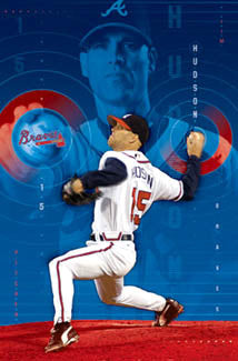 "Tim Hudson ""Ace"" Atlanta Braves MLB Pitcher Baseball Action Poster - Costacos 2005"