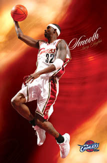 "Larry Hughes ""Smooth"" Cleveland Cavaliers NBA Poster - Costacos 2005"