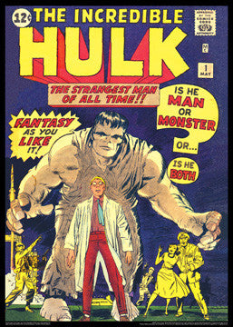 The Incredible Hulk #1 (May 1962) Vintage Marvel Cover Poster Reprint