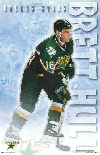 "Brett Hull ""Action"" Dallas Stars NHL Poster - Costacos 2000"