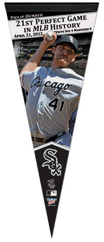 Philip Humber Perfect Game (April 21, 2012) Premium Felt Commemorative Pennant