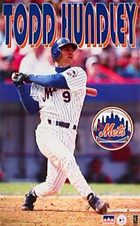 "Todd Hundley ""Power"" New York Mets Poster - Starline 1997"