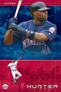 "Torii Hunter ""Big Game Hunter"" Minnesota Twins Poster - Costacos 2004"