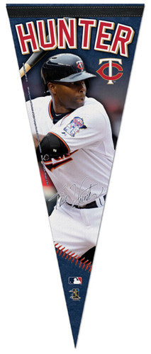 "Torii Hunter ""Signature Series"" Minnesota Twins Official MLB Premium Felt Pennant - Wincraft Inc."
