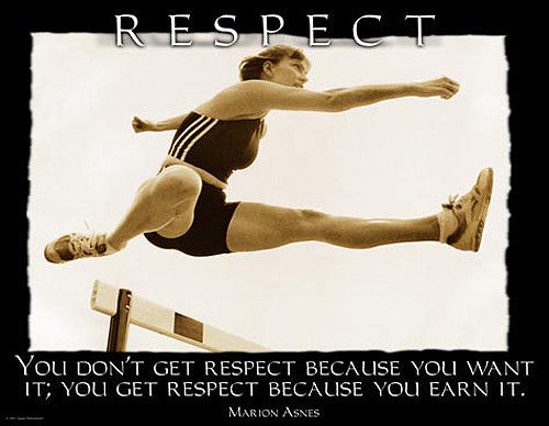 "Hurdler ""Respect"" Motivational Inspirational Track and Field Poster - Jaguar Inc."