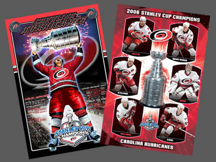 Carolina Hurricanes 2006 Stanley Cup Champions 2-Poster Combo - Costacos/Action Images