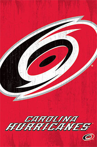 Carolina Hurricanes Official NHL Hockey Team Logo Poster - Costacos Sports