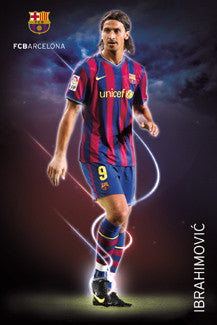 "Zlatan Ibrahimovic ""Cyclone"" FC Barcelona Poster (2009/10) - GB Eye"