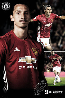 "Zlatan Ibrahimovic ""Triple-Action"" Manchester United FC EPL Soccer Poster - GB Eye 2017"