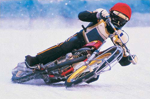 Motorcycle Ice Racing Action Poster - Eurographics Inc.