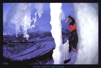 """Find Your Own Way"" (Ice Climbing) - Verkerke 1999"