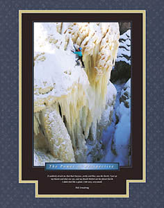 "Ice Climbing ""The Power of Perspective"" Motivational Poster - Eurographics"