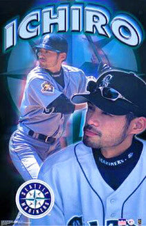 "Ichiro Suzuki ""Seattle Star"" Seattle Mariners Poster - Starline 2001"
