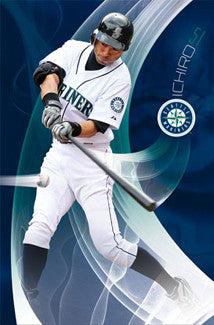 "Ichiro Suzuki ""Perfect Swing"" Seattle Mariners Poster - Costacos 2011"