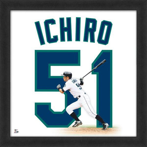 "Ichiro Suzuki ""Number 51"" Seattle Mariners MLB FRAMED 20x20 UNIFRAME PRINT - Photofile"