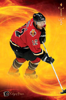 "Jarome Iginla ""On Fire"" Calgary Flames NHL Action Poster - Costacos 2003"