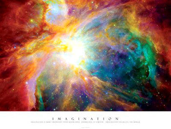 Imagination (Supernova with Einstein Quote) Premium Print - Pyramid