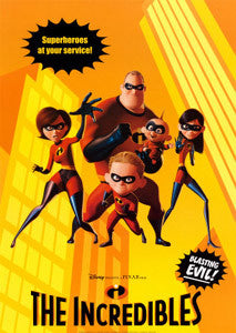 "Disney-Pixar ""The Incredibles"" (2004) SUPERHEROES Poster Print"