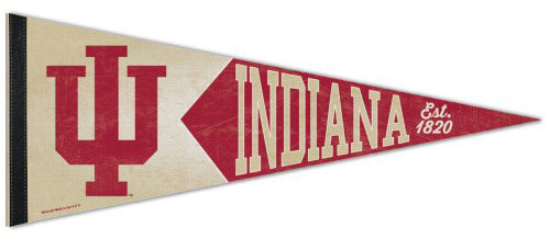Indiana Hoosiers NCAA College Vault 1950s-Style Premium Felt Collector's Pennant - Wincraft Inc.