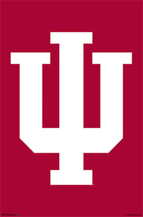 "Indiana University Hoosiers ""IU"" Official NCAA Team Logo Poster - Costacos 2013"