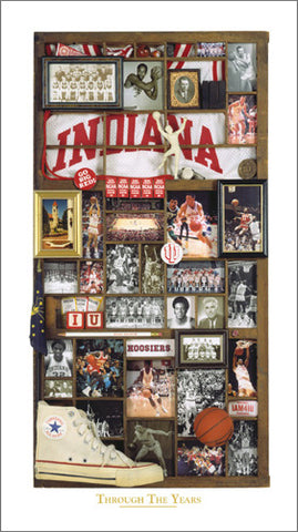 "Indiana Hoosiers Basketball ""Through the Years"" Premium Poster Print - Smashgraphix Inc."