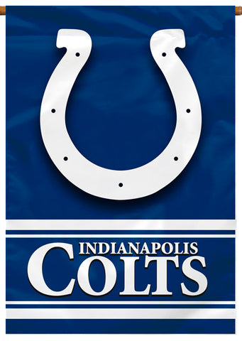 Indianapolis Colts Official NFL Football Team Premium 28x40 Banner Flag - BSI Products