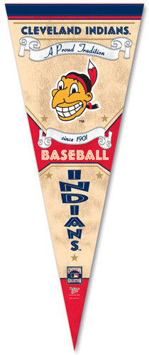 "Cleveland Indians ""Since 1901"" Chief Wahoo Classic-Style Premium Felt Cooperstown Collection Pennant - Wincraft"