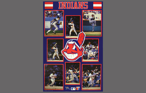 Cleveland Indians 1987 8-Player Team Action Poster - Starline 1987