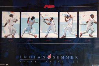 "Cleveland Indians ""Indian Summer"" Vintage Original Poster - Costacos 1996"