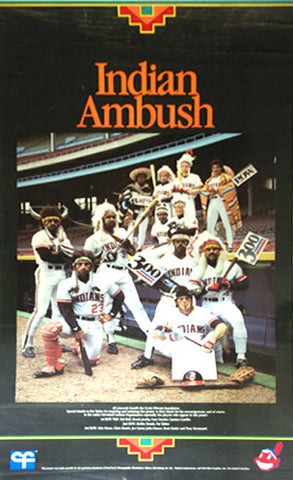 "Cleveland Indians ""Indians Ambush"" (1986) War Paint Team Poster"