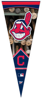 "Cleveland Indians ""Batrack"" Chief Wahoo Style Premium Felt Pennant - Wincraft"