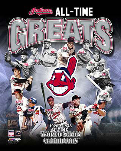 "Cleveland Indians ""All-Time Greats"" (14 Legends) Premium Poster Print - Photofile Inc."