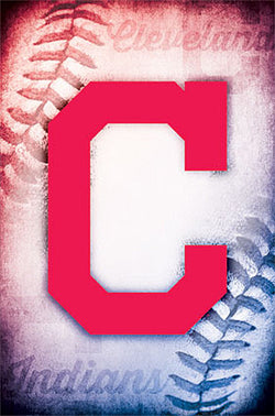 "Cleveland Indians ""Big C"" Official Team Logo MLB Wall Poster - Costacos 2014"