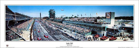Indianapolis Motor Speedway Indy 500 (2005) Panoramic Poster Print - Everlasting Images