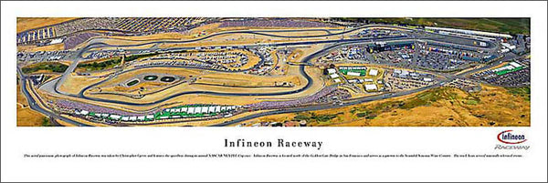 Infineon Raceway Aerial NASCAR Race Day Panoramic Poster Print - Blakeway 2006