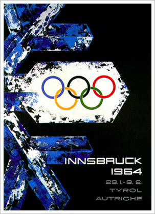 Innsbruck 1964 Winter Olympic Games Official Poster Reprint - Olympic Museum