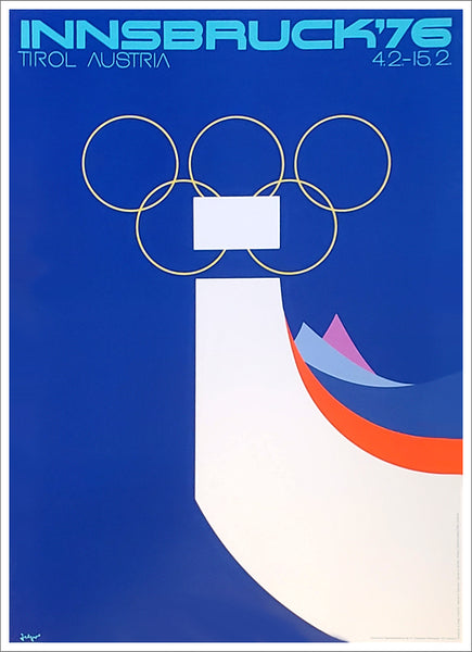 Innsbruck 1976 Winter Olympic Games Official Poster Reprint - Olympic Museum