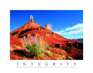 "Desert Valley ""Integrity"" Motivational Poster - Front Line"