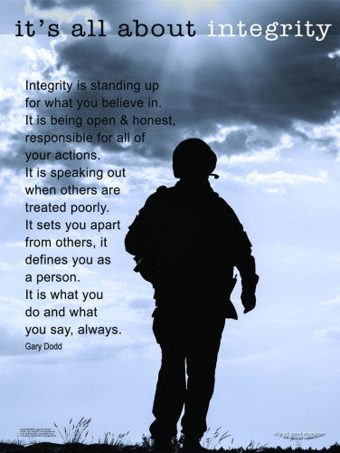 "The American Soldier ""It's All About Integrity"" Motivational Poster - Jaguar Inc."