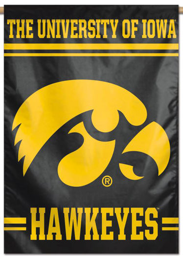University of Iowa Hawkeyes Official NCAA Team Logo Style NCAA Premium 28x40 Wall Banner - Wincraft Inc.