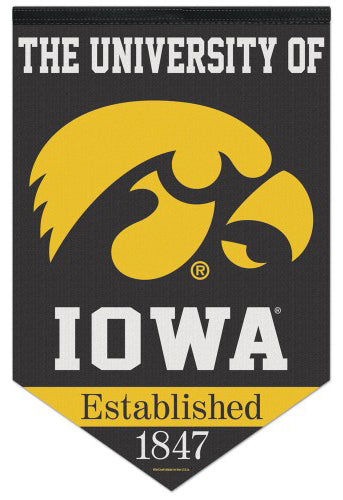 "University of Iowa Hawkeyes ""Est. 1847"" Official NCAA Premium Felt Wall Banner - Wincraft"