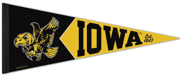 Iowa Hawkeyes NCAA College Vault 1940s-Style Premium Felt Collector's Pennant - Wincraft Inc.