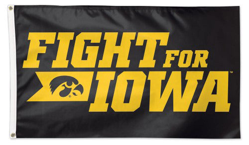 "University of Iowa Hawkeyes ""Fight For Iowa"" Official NCAA Deluxe 3'x5' Team Flag - Wincraft"