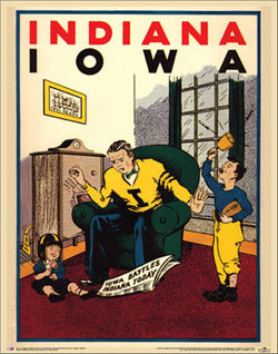 "Iowa Hawkeyes ""Indiana '31"" Vintage Reprint Poster - Asgard Press"